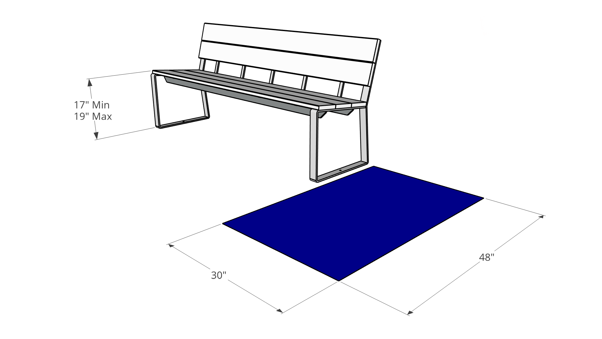 Height and Spacing Guidelines for Outdoor Benches