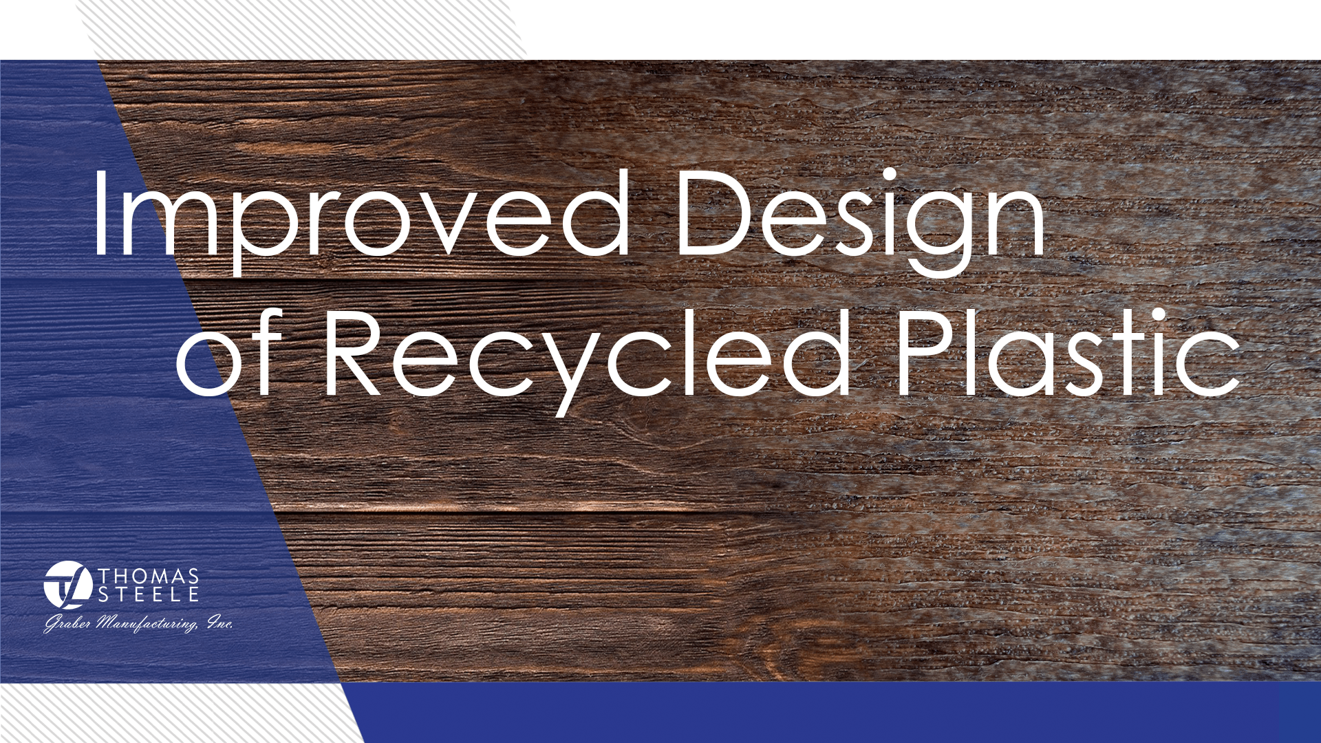 Blend of natural wood and recycled plastic shows how closely these materials resemble one another.